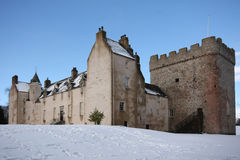 Drum Castle in the snow Royalty Free Stock Photos