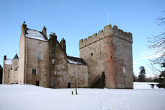 Drum Castle in the snow Stock Photo