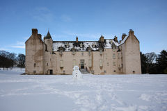 Drum Castle in the snow Stock Photography