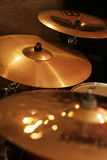 Drum cymbals Royalty Free Stock Photo