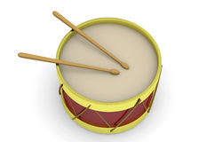 Drum - 3D Royalty Free Stock Photography