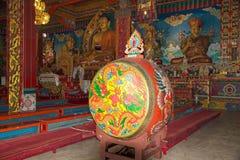 Drum at the Dali Monastery, Darjeeling, India Royalty Free Stock Photos
