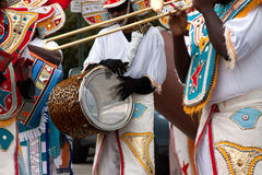 Drum and Dancers Royalty Free Stock Photography