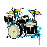 Drum drawing vector Royalty Free Stock Images