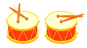 Drum and drum sticks Stock Image