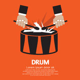 Drum And Drummer's Hand. Drum And Drummer's Hand Vector Illustration EPS10 Stock Photography