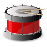 Drum with drumstick Stock Image