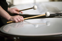 Drum and drumstick Royalty Free Stock Images