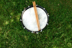 Drum and Drumsticks Stock Image