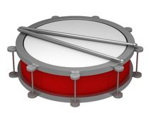 A drum with drumsticks Stock Photos