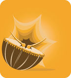 Drum with drumsticks Royalty Free Stock Photos