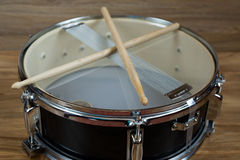 Drum and drumsticks Royalty Free Stock Photo
