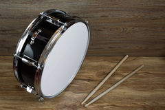 Drum and drumsticks Stock Images