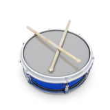 Drum with drumsticks Royalty Free Stock Photo