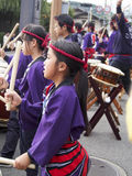 Drum Festival Kyoto. Traditional drummers perform at a festival in Kyoto Stock Images