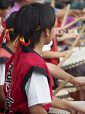 Drum Festival Kyoto. Traditional drummers perform at a festival in Kyoto Stock Photo