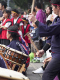 Drum Festival Kyoto. Traditional drummers perform at a festival in Kyoto Royalty Free Stock Photography