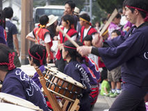 Drum Festival Kyoto. Traditional drummers perform at a festival in Kyoto Stock Image