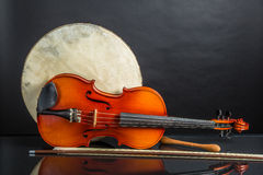 Drum and Fiddle Royalty Free Stock Images