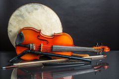 Drum, fiddle and whistles Stock Image