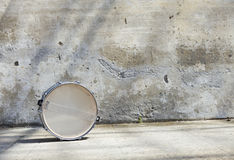 Drum in front of a wall Stock Photos