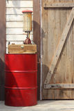 The drum of fuel and hand pump Royalty Free Stock Photography