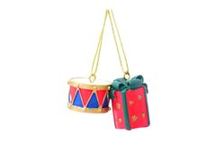 Drum and Gift Royalty Free Stock Images