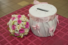 Drum for gifts. Stock Photos