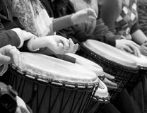 Drum and hands Royalty Free Stock Photography