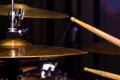 Drum hi-hat, musical instrument, drumming Royalty Free Stock Images