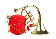 Drum and horn Royalty Free Stock Photos