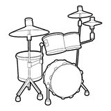 Drum icon, outline isometric style Royalty Free Stock Image