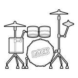 Drum icon, outline style Royalty Free Stock Photos