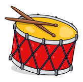 Drum illustration; Isolated snare drum. Isolated drum illustration; Snare drum drawingn Royalty Free Stock Photos