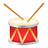 Drum. Illustration of a drum isolated on white background vector illustration
