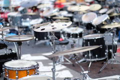 Drum installations of summit participants Royalty Free Stock Images