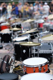 Drum installations of summit participants Royalty Free Stock Photo