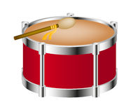 Drum instrument with big drumstick Stock Image