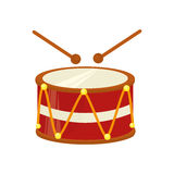 Drum instrument isolated icon Stock Image