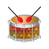 Drum instrument musical icon Royalty Free Stock Image