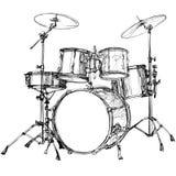 Drum kit. Vector illustration of a drum kit royalty free illustration