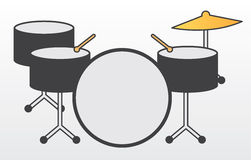 Drum Kit Royalty Free Stock Photography