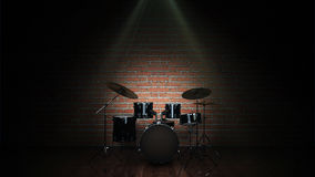Drum kit. Design made in 3D vector illustration