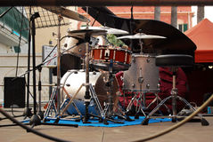 Drum kit. Waiting the concert Stock Image