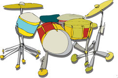 Drum Kit. A fully scalable vector illustration of a Drum Kit. Jpeg, Illustrator AI and EPS 8.0 files included Stock Image