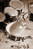 Drum kit close-up Stock Photos