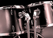 Drum-kit closeup. Beautiful closeup of a drum-kit with tom-toms Royalty Free Stock Image