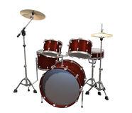 Drum Kit isolated on a white Royalty Free Stock Photography