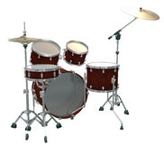 Drum Kit isolated on a white. Background Royalty Free Stock Image
