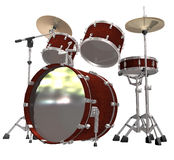 Drum Kit isolated on a white. Background Royalty Free Stock Photography